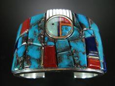 Wes Willie Natural Bisbee Inlay Sterling Bracelet