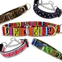 "Quick Guide for a Martingale Collar http://www.collarplanetonline.com/pet-talk/quick-guide-for-a-martingale-collar/ Martingale collars are a great tool for walking your dog and for all around dog training. Many dog owners are making the switch from traditional dog collars to martingale collars for a number of reasons. But for those of you who are left out of the ""loop"" (see what I did there?), here are the basics on what a martingale collar is, what it does and the benefits of making the…"
