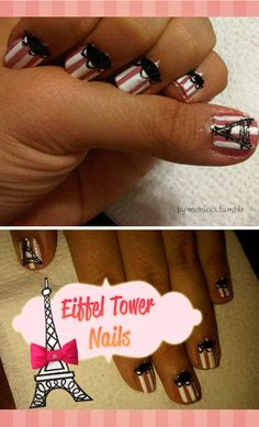 My Eiffel Tower Nails Eiffel Tower Nails, Hair And Nails, My Nails, Kinds Of Colors, Types Of Nails, Finger Painting, Shellac, Labs, Cute Nails
