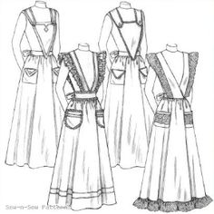 Victorian Style Aprons Could make a great costume piece.