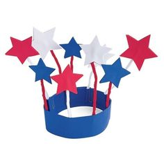 4th of July kids craft, star-spangled-hat going to make these with the little monkeys!