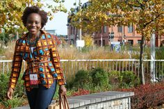 What I Wore: Boulevard of Chic III - Fall into Holiday Shopping Vogue Pattern 9037 African Dresses For Women, African Attire, African Wear, African Women, African Print Fashion, African Prints, Ghanaian Fashion, Kitenge, Cute Tops