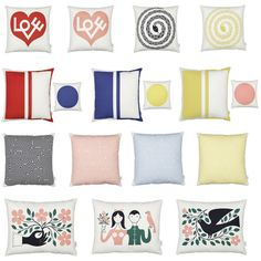 Alexander Girard Graphic Print Pillows