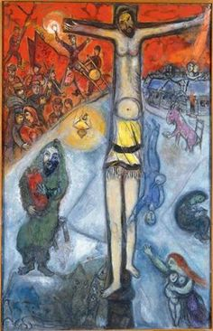 Page: Resurrection Artist: Marc Chagall Start Date: 1937 Completion Place of Creation: France Style: Surrealism . Marc Chagall, Artist Chagall, Chagall Paintings, Jewish Art, Religious Art, Art Moderne, Christian Art, French Artists, Art History