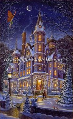 Home is Where the Magic Is - Artwork by Randall Spangler.  Chart design by Michele Sayetta for Heaven and Earth Designs.