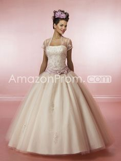 Gorgeous A-line Strapless Floor-length Quinceanera Dresses