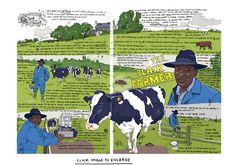 Olivier Kugler The Black Farmer Stippling, Travelogue, Farmer, Illustrators, Illustration Art, Doodles, Sketches, Watercolor, Baseball Cards
