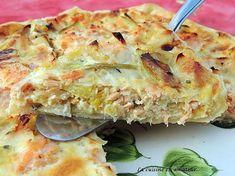 Leek and salmon pie Salmon Pie, Salmon Pasta, Yummy Food, Tasty, Juice Plus, Chili, Food Videos, Entrees, Sandwiches