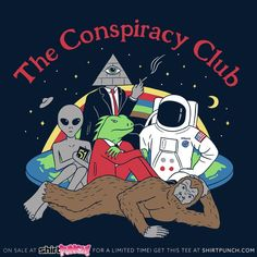 art - The Conspiracy Club TShirt Bizarre Kunst, Bizarre Art, Psychedelic Art, Art Pop, Art And Illustration, Arte Alien, Wow Art, Aesthetic Art, Aesthetic Drawing