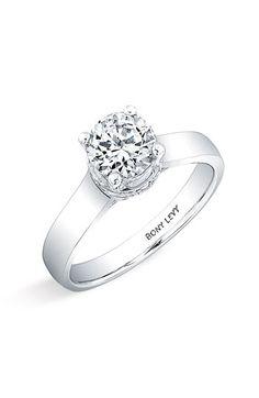 Bony Levy 'Bridal' Diamond Pavé Semi Mount Ring (Nordstrom Exclusive)