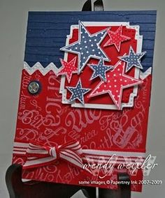 Great card for 4th of July-same design would be cute on a scrapbook page