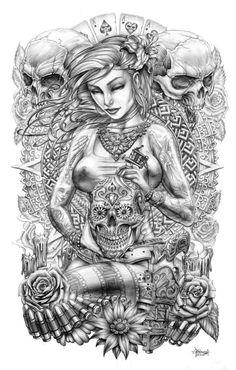 Sugar Skull Goddess by Loren86 on deviantART