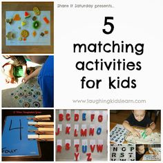 Share It Saturday - 5 matching activities for kids