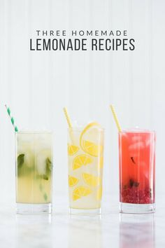 Try these three tasty homemade lemonade recipes made with @TruviaBrand #TasteTruvia #ad   The Best Homemade Lemonade Recipes   Brunch recipes, Easter brunch ideas, entertaining tips, party ideas and more from @cydconverse