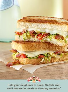 Only crunchy sprouts and bacon could make a classic sandwich with melty Deli White American even better. Learn more about Pin a Meal. Give a Meal. and Feeding America® at LandOLakes.com/pinameal. (Pin any Land O'Lakes recipe or submit any recipe pin at LandOLakes.com/pinameal.)