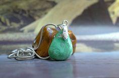 Variscite pendant Utahlite mineral charm necklace by SAGaStone