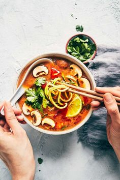 Vegan Tom Yum Soup | Evergreen Kitchen | Vegan, Gluten Free