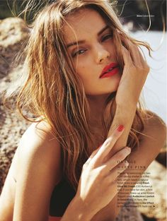 Russian model Kate Grigorieva provides some stunning summer makeup looks with a beauty spread featured in Glamour UK's June issue. Photographed by Sam Hendel and styled by Alessandra Steinherr, the blonde looker hits the beach in swimsuits and sun-kissed makeup looks. Makeup artist Kirstin Piggott created Kate's bold lip colors and bronzed cheeks while hairstylist …