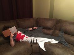 Original Shark Attack Blanket by RusticSunsetBoutique on Etsy