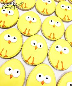 Cute and Simple Baby Chick cookies for a special occasion. Call or email to book your special event cookies today! #cookies #sugarcookies #easter #celebrate #party #holiday (scheduled via http://www.tailwindapp.com?utm_source=pinterest&utm_medium=twpin)