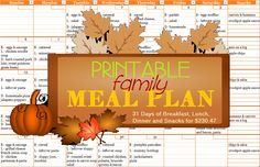 Happy October! Already! I can't believe how quickly September went – I feel like I blinked and the month was over. Like I said in the initial menu post, I am going to post the menu for each week…