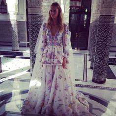 Poppy Delevigne Emilio Pucci Wedding Dress