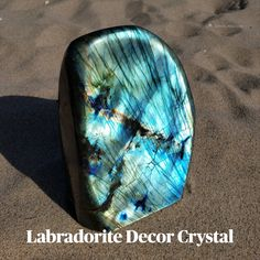 Sacred Geometry Art, Crystal Decor, Los Angeles Homes, Crystal Cluster, Labradorite, Aqua, Collections, Crystals, Home Decor