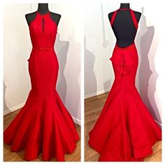 Mermaid Red Prom Dress,Long Prom Dresses,Charming Prom Dresses,Evening Dress,