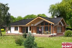 Cabin Homes, Cottage Homes, Modern Bungalow House, My House Plans, Timber House, Small House Design, Exterior Design, Construction, House Styles