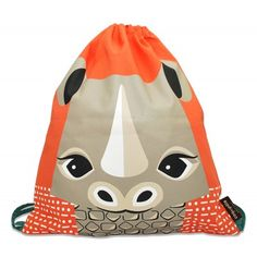 Sac à dos enfant maternelle en coton bio motif rhinocéros / Kids backpack for school made out organic cotton with rhino graphic / www.coqenpate.com #rentreescolaire #backtoschool #saveourspecies