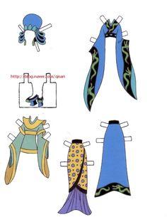 Dresses for Disney's Mulan paper dolls, Portuguese (4 of 9)   Naver Blog   여장을한 무슈라니.. 생각만으로도 넘귀엽겠죠? ㅎㅎ