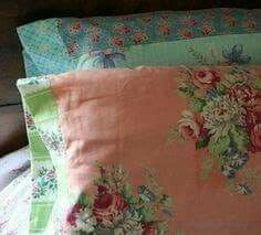Pillows from vintage tablecloths or fabrics