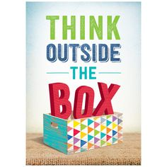 Think Outside the Box-Upcycle Poster