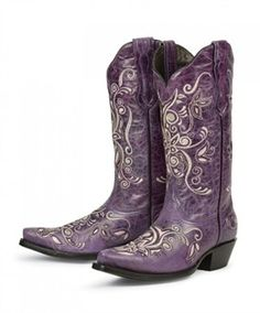 Costilla in Purple by Pecos Belle Purple Cowboy Boots, Purple Boots, Cowboy Boots Women, Cowgirl Boots, Western Boots, Black Boots, Cowboy Hats, Purple Camo, Cowgirl Style