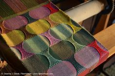A FiberArtisan's Weaving Path: Sprang and doubleweave by Deanna Jill Deeds - excellent resources for sprang technique
