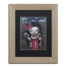 Trademark Art 'Bones and Butterflies' by Abril andrade Framed Graphic Art