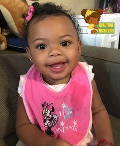 Nyla Adelynn - 10 Months • African American & Salvadorian ♥️ FOLLOW @BEAUTIFULMIXEDKIDS http://instagram.com/beautifulmixedkids