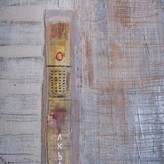 Textures in painting - closer view of destiny 1 abstract painting.  #Art