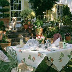 Lunch in the garden.....