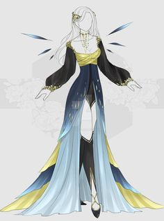 [Closed]Auction Outfit by Character Costumes, Character Outfits, Character Art, Dress Drawing, Drawing Clothes, Fashion Fabric, Fashion Art, Fashion Design, Anime Outfits