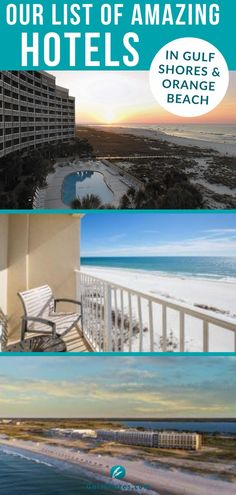Orange Beach and Gulf Shores have more than 20 different hotels to choose from when you plan your beach vacation. Whether it's for a family vacation, couples getaway, girls night out, or a guys weekend adventure, with so many unique hotels we are sure you'll find the one that's perfect for your trip. With different views, amenities, and price points, there's something for everyone right here in paradise!  #alabamatravel #alabamavacation #hotels #lodging #traveltips Gulf Shores Attractions, Beach Resorts, Hotels And Resorts, Perdido Beach Resort, Orange Beach Hotels, Alabama Vacation, Hotels For Kids, Unique Hotels, Destin Beach