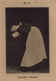 figure on hypnotic catalepsy, 1921