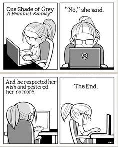 """""""One shade of Grey"""" A femisnist fantasy [cartoon]"""