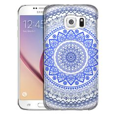Samsung Galaxy S6 Blue Circle Mandala Case