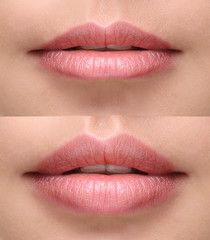 Image result for permanent makeup pouty lips