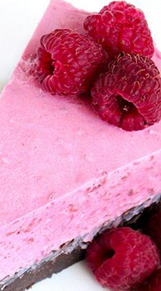 Raspberry Brownie Cheesecake