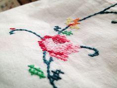 Heart Handmade UK: Pastel Pretties   Pastel Garden Tools Some Cross Stitch and Living Room Coziness
