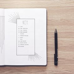 Bullet Journal Key Ideas - These bujo key ideas will inspire you to run to your . - Bullet journal İdeas in 2019 Bullet Journal Inspo, Bullet Journal Wishlist, Books To Read Bullet Journal, Bullet Journal Key Page, Bullet Journal Doodles, Bullet Journal Weekly Spread, Minimalist Bullet Journal, Bullet Journal September, Bullet Journal Travel