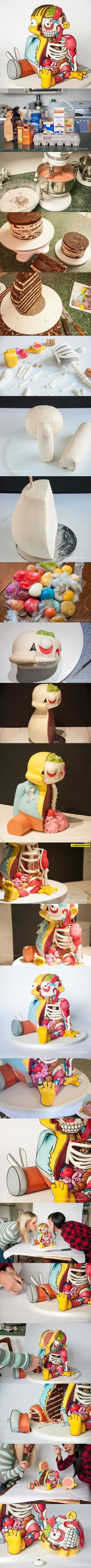 Looks so unreal! Ralph Wiggum Cut-Out Cake #simpsons