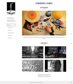 Itinerante Filmes, site em WordPress.